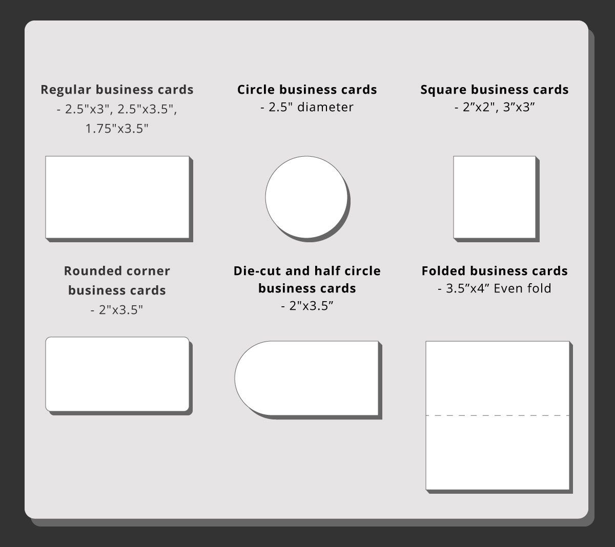 Business Card Sizes 48hourprint