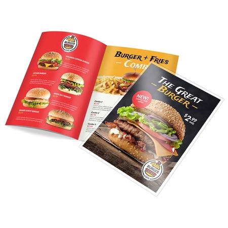 dine in menu custom folded menu printing 48hourprint