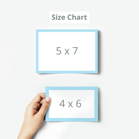 thank you card size chart