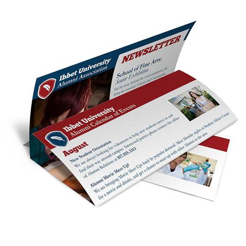 tri fold newsletter online printing solutions 48hourprint com