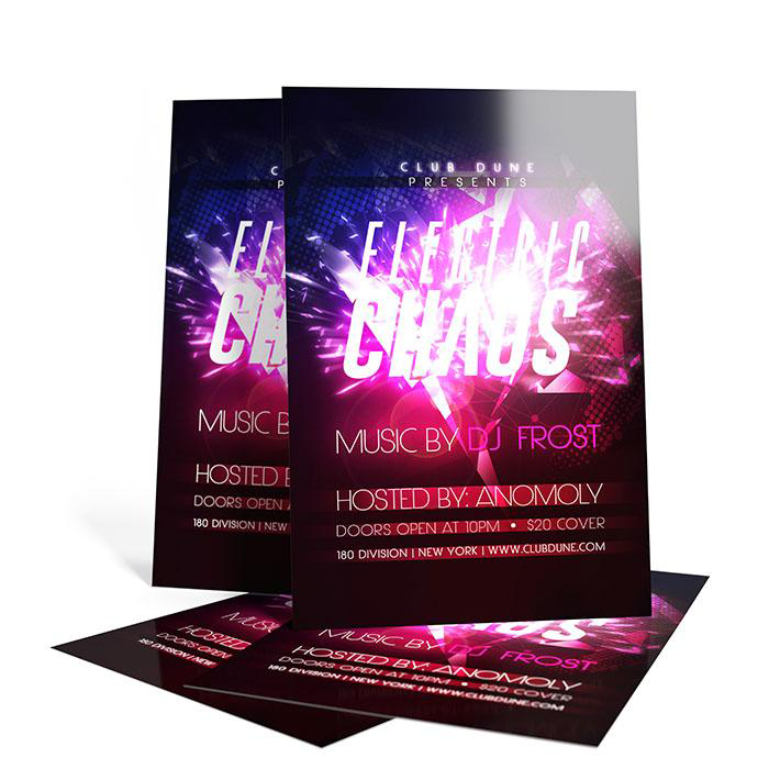 flyer printing business nightclub and die cut 48hourprint