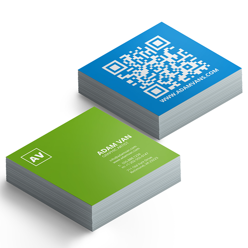 Print square business cards that stand out 48hourprint square business cards reheart Images