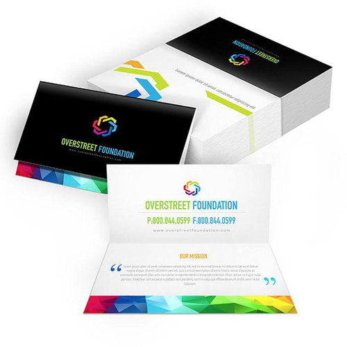 Business Card Printing Shaped Business Cards HourPrint - Folded business card template