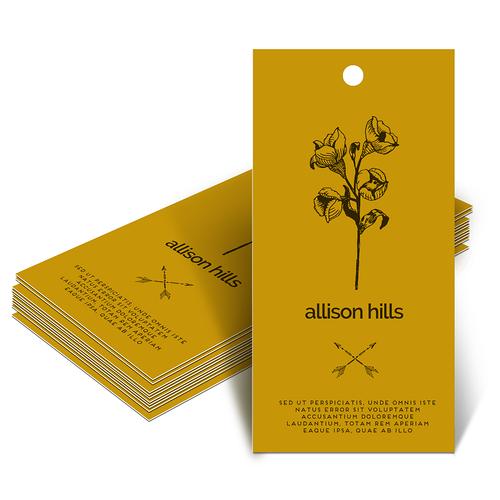 48 hour print templates - custom hang tag printing